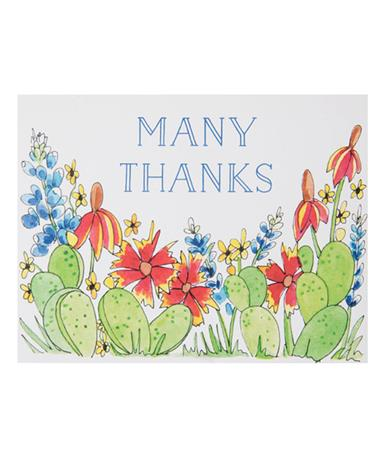 Many Thanks Single Note Card