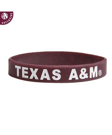 Texas A&M Youth Spirit Band Silicon Bracelet