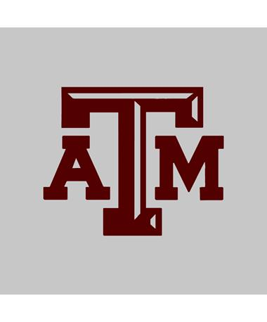 Texas A&M Aggie Small Beveled Maroon Decal