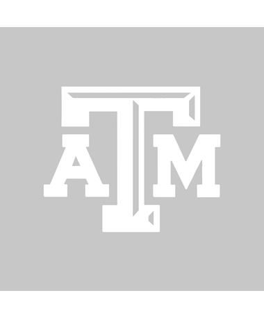 Texas A&M Aggie Small Beveled White Decal