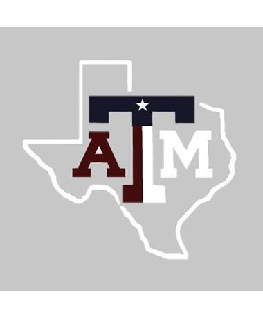 Texas A&M Lone Star Texas Flag Car Decal