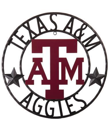 Texas A&M Aggies Stars 18 Inch Iron Wall Decor