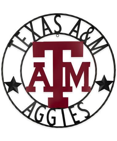Texas A&M Aggies Stars 24 Inch Iron Wall Decor