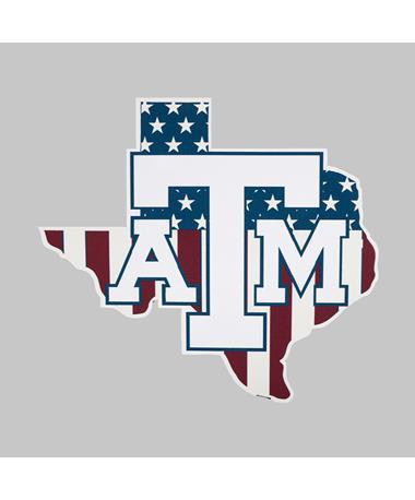 Texas A&M Patriotic Lone Star Decal