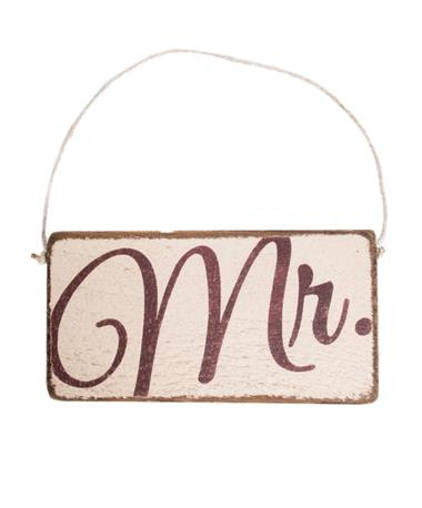 Maroon Mr. Rustic Mini Plank Sign