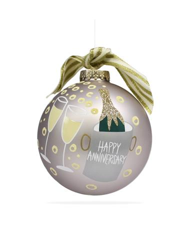 Coton Colors Happy Anniversary Ornament