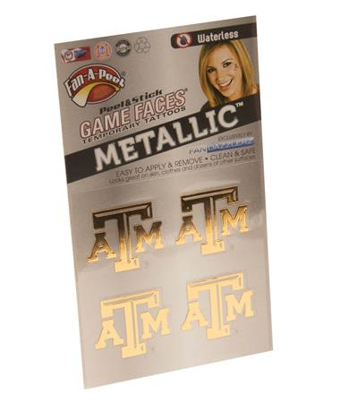 Texas A&M Aggie Gold Face Tattoo Pack