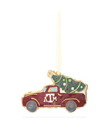 Texas A&M Kitty Keller Truck & Tree Ornament
