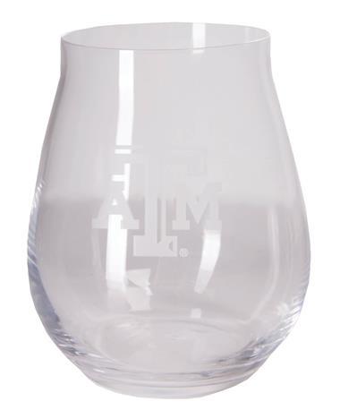 Texas A&M Luigi Trebbiano Stemless Wine Glass