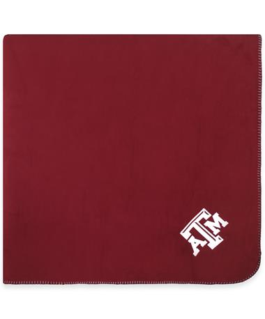 Texas A&M Fleece Maroon & Grey Blanket