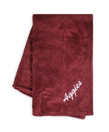Texas A&M Aggies Pineapple Stitch Blanket