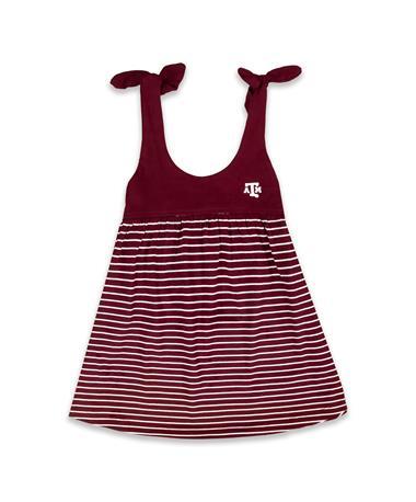 Texas A&M Toddler Striped Sundress