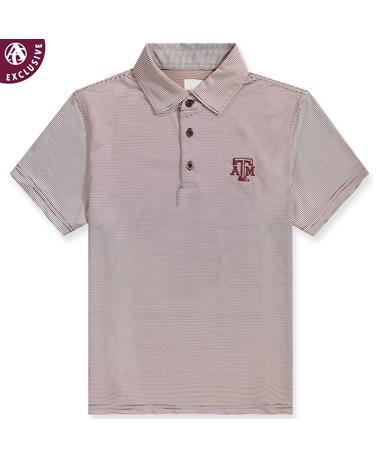 Texas A&M Men's Micro Stripe Polo
