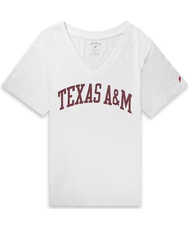 Texas A&M League Women's Intramural V-Neck Tee