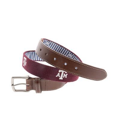 Texas A&M Peter Millar Embroidered Belt