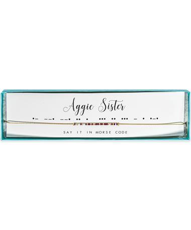 Texas A&M Aggie Sister Morse Code Necklace
