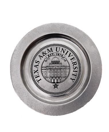 """Texas A&M 12"""" Queen Anne Plate"""