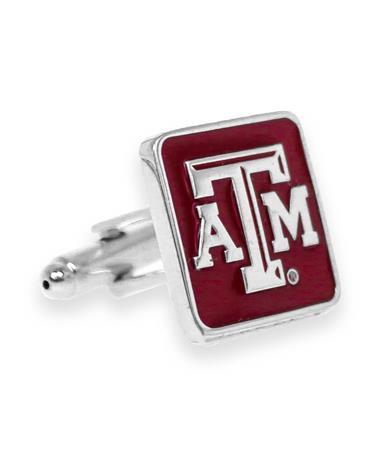 Texas A&M Maroon Beveled Cuff Links
