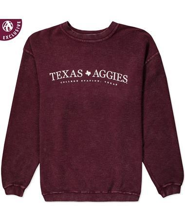 Texas A&M Simple Texas Aggies Corduroy Pullover