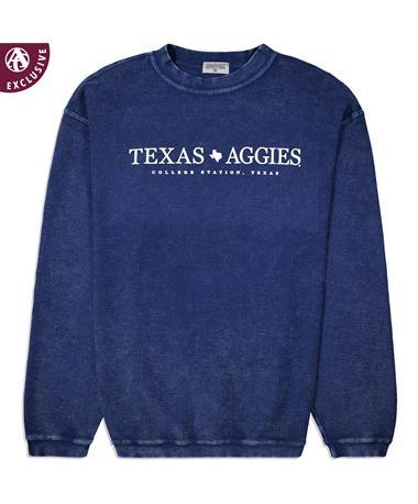 Simple Texas Aggies Corduroy Pullover