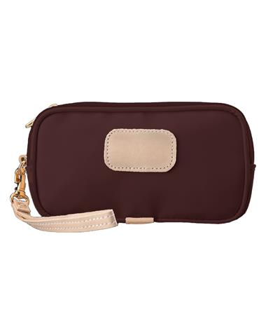 Maroon Jon Hart Coated Canvas Wristlet