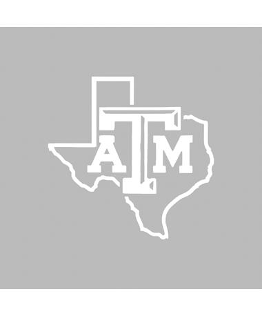 """Texas A&M White Lone Star 3"""" Decal"""