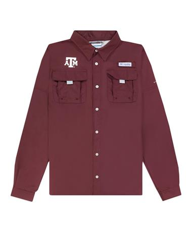 Texas A&M Columbia Youth Bahama Long Sleeve Fishing Shirt