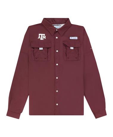Texas A&M Columbia Youth Bahama Long Sleeve Fishing Shirt