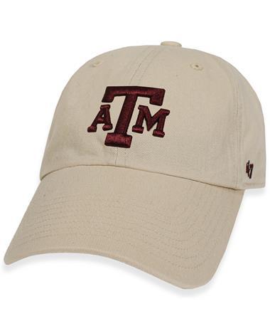 Texas A&M '47 Brand Natural Clean Up Cap