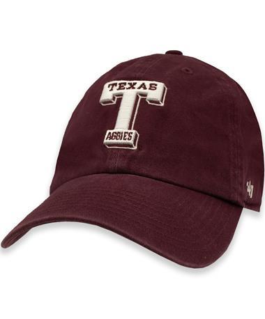 Texas A&M '47 Brand Vin Dark Maroon Clean Up Cap