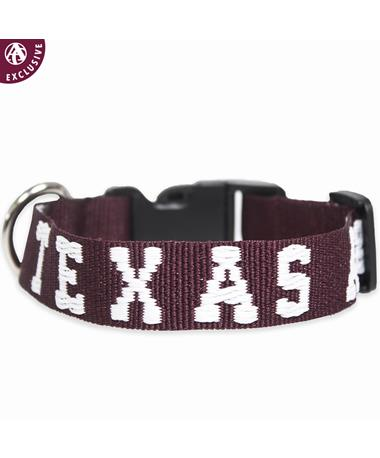 Texas A&M Embroidered Dog Collar