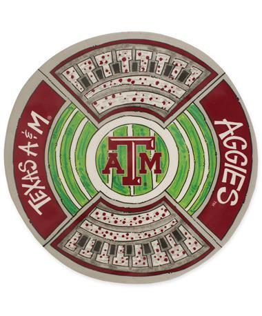 Texas A&M Magnolia Lane Round Stadium Platter