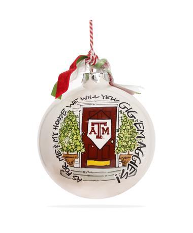 Texas A&M Magnolia Lane My House Ornament