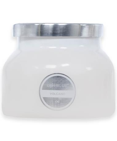 Capri Blue Volcano Signature White Glass Candle