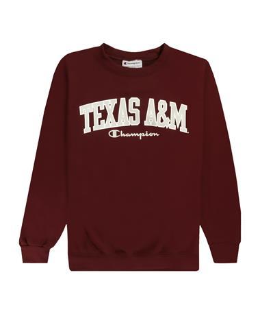 Texas A&M Champion Youth Powerblend Fleece Crew