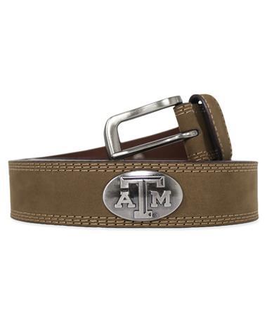 Texas A&M Crazy Horse Light Brown Concho Belt