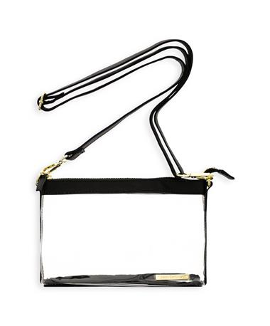 Black & Gold Clear Crossbody