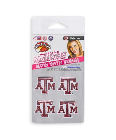 Texas A&M Temporary Glitter Tattoos
