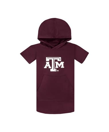 Texas A&M Youth Cotton Hood Short Sleeve Shirt