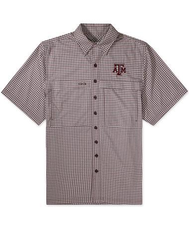 Texas A&M GameGuard Maroon & White Men's TekCheck Shirt