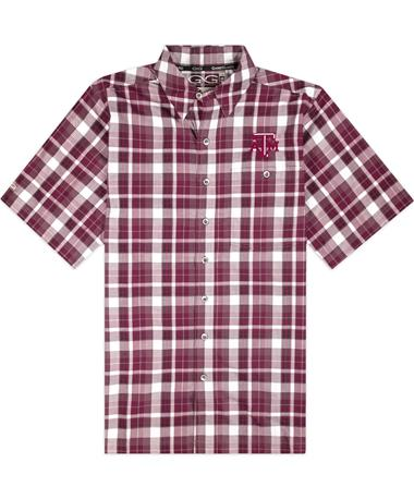 Texas A&M GameGuard Maroon Plaid Classic Cotton Shirt