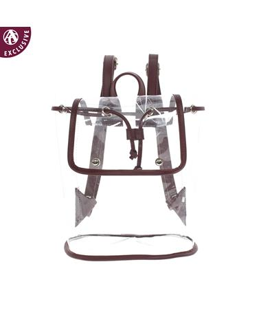 Maroon Strap Clear Backpack