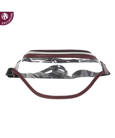 Maroon & Clear Fanny Pack