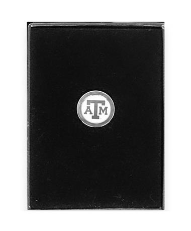 Texas A&M Block ATM Silver Lapel Pin