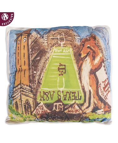 Texas A&M Heidi Hensley Reveille Pillow