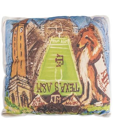 Texas A&M Heidi Hensley Reveille Pillow