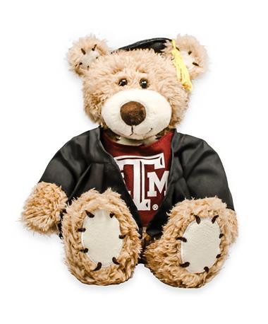 """Texas A&M 8"""" Brown Bear  with Grad Cap"""