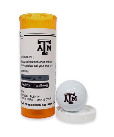 Texas A&M Prescription Tube Golf Balls