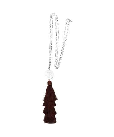 Texas A&M Tara Tassel Silver Necklace