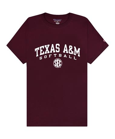 Texas A&M Champion Softball SEC T-Shirt